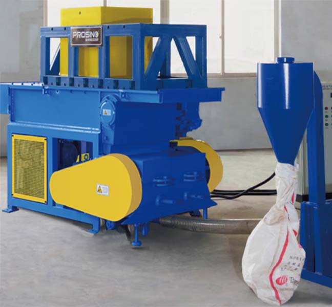 Shredding & Granulating Integrated Unit