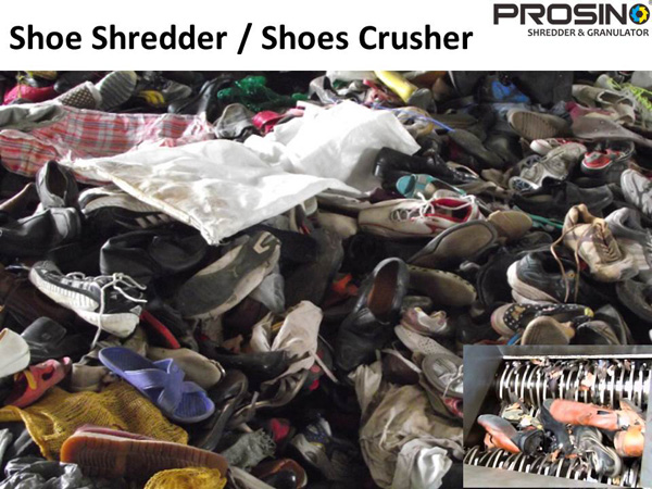 Shoe Shredder Shoes Crusher Prosino Shredder