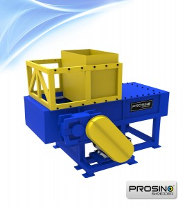 Vertical Single Shaft Pipe Shredder, Plastic Pipe Shredding Machine