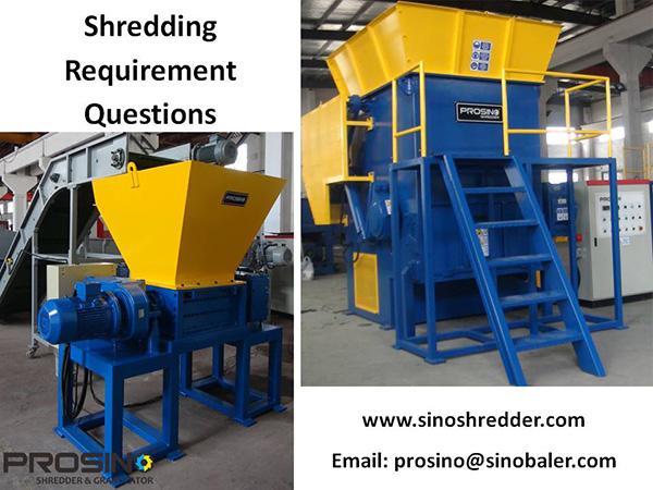 Shredding Requirement Questions, Shredding Questions - PROSINO