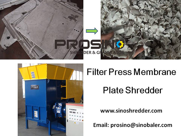 Filter Press Membrane Plate Shredder, Filter Press Cloth Shredder