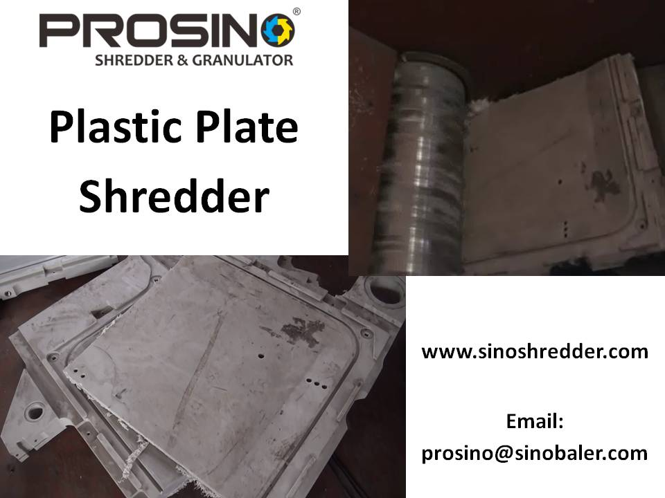 Plastic Plate Shredder Machine, Plastic Plate Granulator Machine