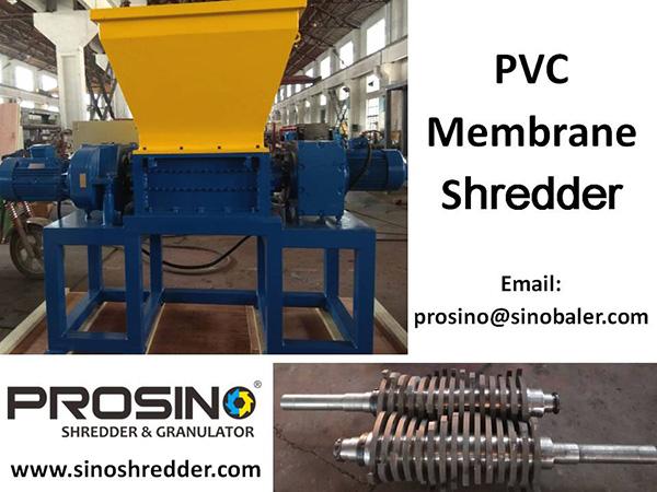 PVC Membrane Shredder Machine, PVC Membrane Shredding Machine