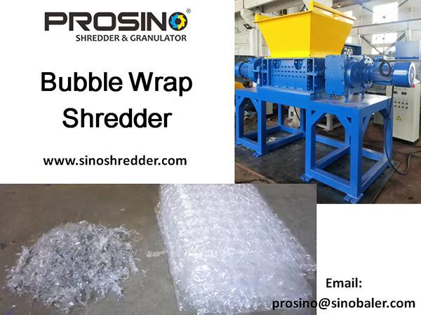 Bubble Wrap Shredder Machine, Bubble Wrap Granulator - PROSINO