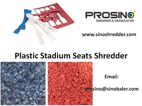 Plastic Stadium Seats Shredder, Plastic Stadium Seat Granulator Machine