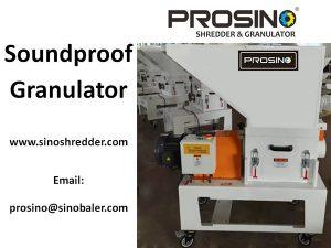 Soundproof Granulator Machine, Sound proof Crusher - PROSINO