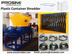 show how does a plastic container shredder look like