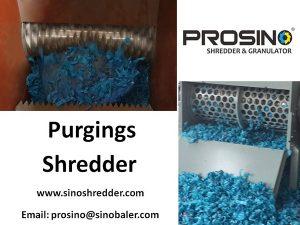 Purgings Shredder, Plastic Purging Shredding Machine - PROSINO
